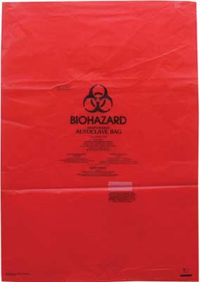 Red Bags, Hazard Waste. Autoclavable Bags