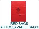 Red Bags, Hazard Waste. Autoclavable Bags THUMBNAIL