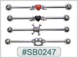 SB0247 Ear Project Industrial Bars with Decorative Ornaments