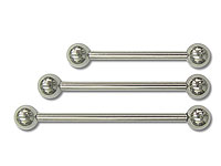 "SB0410, 12G 1"" to 1+1/2"" SS Balls & Bar Barbells"