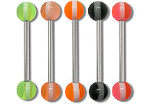 SB2064 White Stripe Barbells THUMBNAIL