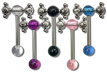 SB2413 Double Gem Spinner Barbell THUMBNAIL