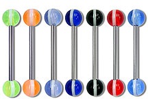 "SB3126 UV Ball Barbells 14 Gauge 3/4"" THUMBNAIL"