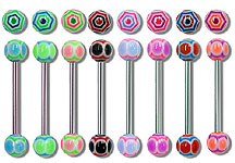 "SB3128 UV Ball Barbells 14 Gauge 3/4"" THUMBNAIL"