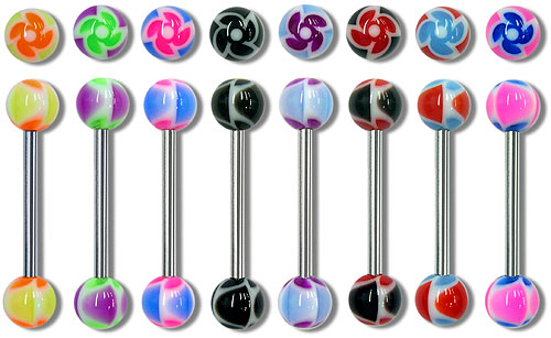 "SB3129 UV Ball Barbells 14 Gauge 3/4"" MAIN"