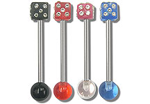 SB3200 Gem Dice UV Ball Barbells