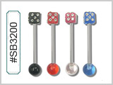 SB03200 Gem Dice Barbells THUMBNAIL