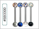 SB3300 UV Multi-Gem Barbells THUMBNAIL