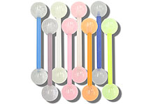 SB4317 Glow in the Dark Ball Flex Bar UV Barbell THUMBNAIL