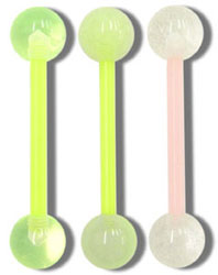 SB4318 Glow in the Dark Ball UV VFlex Bar Barbell MAIN