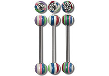 SB5140 Gem Stripes Barbell THUMBNAIL