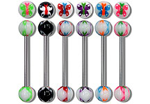 "SB5221 Butterfly Ball 14G 3/8"" Barbells THUMBNAIL"