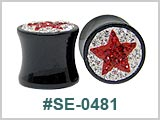 SE0481, Multi-Gem Red Star plugs