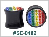 SE0482, Multi-Gem Rainbow plugs