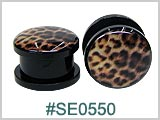 SE0550, Leopard Plastic Threaded Tunnels