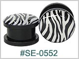 SE0552, Zebra Stripe Plastic Threaded Tunnels