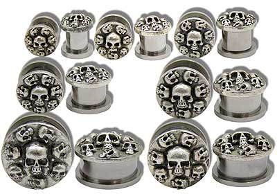 SE0670 Skulls Threaded Tunnels MAIN