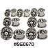 SE0670 Skulls Threaded Tunnels SWATCH