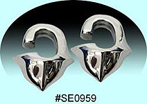 SE0959 Ear Talon Stainless Steel Pair