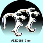 SE0961Ear Talon Stainless Steel Pair