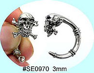 SE0970 Ear Talon Stainless Steel Pair