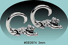 SE0974 Ear Talon Stainless Steel Pair THUMBNAIL