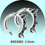 SE0983 Ear Talon Stainless Steel Pair