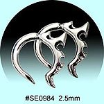 SE0984 Ear Talon Stainless Steel Pair
