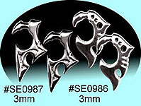 SE0987 Ear Talon Stainless Steel Pair