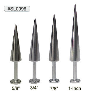 SL0096, SL14, 14G Long Spikes Labret_MAIN