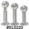 SL0220 14G Labret Internally Threaded with Ball