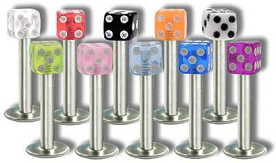 SL0273 16 Gauge UV Dice Labret MAIN