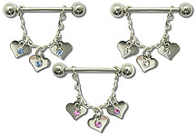 SN0265 Nipple Hearts Dangle THUMBNAIL