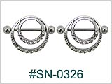 SN0326 Double Gem Ring Nipple THUMBNAIL