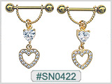 SN0422, GP Nipple Gem and Heart THUMBNAIL