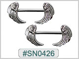 SN0426, Angel Wings Nipple Barbell_THUMBNAIL