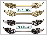 SN0427, Wing Nipple Barbell THUMBNAIL