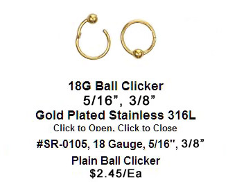 SR0105, 18G, Gold Plated Clicker_MAIN