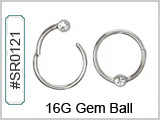 SR0121, 16G, Clicker with Clear Gem_THUMBNAIL
