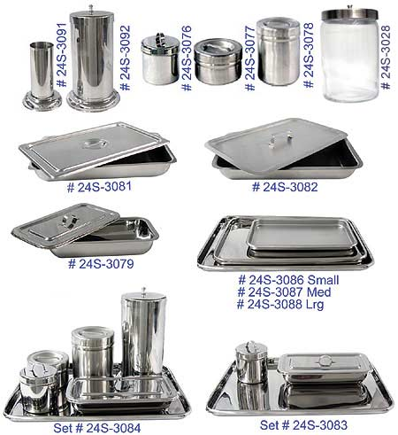 Stainless Steel Jars And Trays, Glass Sundry MAIN