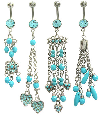SV0315 Turquoise Color Bead Dangles MAIN