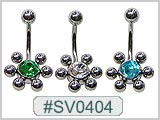 SV0404, Multi-6-Ball S/S Ball Gem Center THUMBNAIL