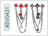 SV0431, Square Gems with Chains THUMBNAIL