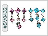 SV0432, Square Gem Dangle THUMBNAIL