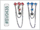 SV0435, Star Gem Chain Dangle THUMBNAIL