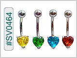 SV0464, Prong Set 7mm Gem Heart Solitaires THUMBNAIL