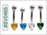 SV0465, Prong Set 5mm Gem Heart Solitaires