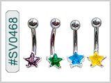 SV0468, Prong Set Star Gem Solitaires THUMBNAIL
