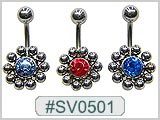 SV0501, Multi-10-Ball S/S Ball Gem Center THUMBNAIL
