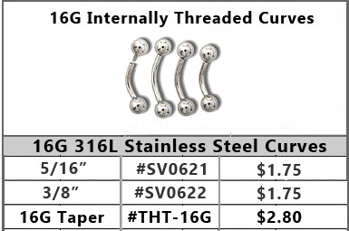 SV0621 16G Internally Threaded Curves MAIN
